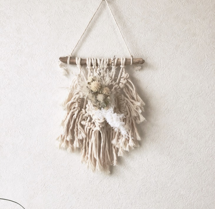 macrame and flower