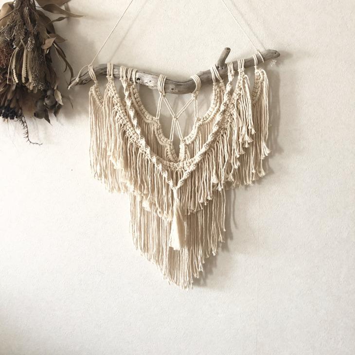 Macrame wall hanging 流木